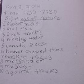 species catalog